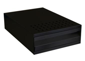 black knock drawer