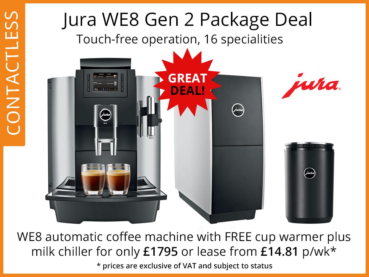 we8 coffee machine deal